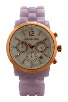 MK6312 Chronograph Audrina Lavender Bracelet Watch by Michael Kors for Women - 1 Pc Watch
