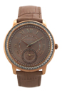 MK2448 Madelyn Pave Rose Gold-Tone and Leather Watch by Michael Kors for Women - 1 Pc Watch