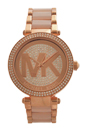 MK6176 Parker Blush Acetate and Rose Gold-Tone Stainless Steel Bracelet Watch by Michael Kors for Women - 1 Pc Watch