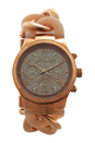 MK4283 Chronograph Runway Twist Blush and Rose Gold-Tone Stainless Steel Watch by Michael Kors for Women - 1 Pc Watch