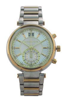 MK6225 Chronograph Sawyer Two-Tone Stainless Steel Bracelet Watch by Michael Kors for Women - 1 Pc Watch