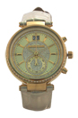 MK2444 Sawyer Gold-Tone and Leather Watch by Michael Kors for Women - 1 Pc Watch