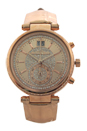 MK2445 Sawyer Rose Gold-Tone and Leather Watch by Michael Kors for Women - 1 Pc Watch