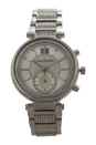MK6281 Chronograph Sawyer Stainless Steel & Crystal Bracelet Watch by Michael Kors for Women - 1 Pc Watch