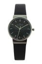 SKW2193 Ancher Black Leather Strap Watch by Skagen for Women - 1 Pc Watch