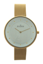 SKW2141 Gitte Gold-Tone Stainless Steel Mesh Bracelet Watch by Skagen for Women - 1 Pc Watch