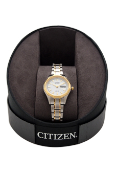 EW3144-51A Eco-Drive Two Tone Stainless Steel Bracelet Watch by Citizen for Women - 1 Pc Watch
