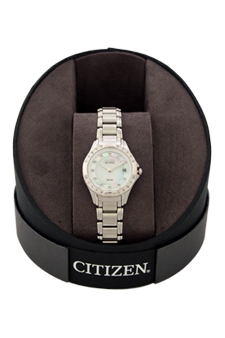 EW2130-51D Eco-Drive Diamond Accent Stainless Steel Bracelet Watch by Citizen for Women - 1 Pc Watch