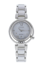 EM0320-83A Eco-Drive Sunrise Stainless Steel & White Ceramic Bracelet Watch by Citizen for Women - 1 Pc Watch