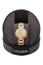 EM0323-51N Eco-Drive Diamond Accent Rose Gold-Tone Stainless Steel Watch by Citizen for Women - 1 Pc Watch