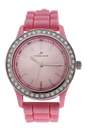 2032L-P Pink Silicone Strap Watch by Kim & Jade for Women - 1 Pc Watch