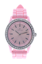 A2032L-2 Pink Silicone Strap Watch by Kim & Jade for Women - 1 Pc Watch