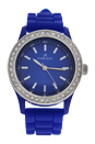 A2032L-1 Blue Silicone Strap Watch by Kim & Jade for Women - 1 Pc Watch
