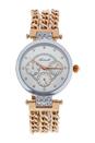 AL0704-01 Silver/Rose Gold Stainless Steel Bracelet Watch by Antoneli for Women - 1 Pc Watch