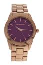 A0372-1 Rose Gold Stainless Steel Bracelet Watch by Jean Bellecour for Women - 1 Pc Watch