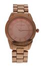 A0372-2 Rose Gold Stainless Steel Bracelet Watch by Jean Bellecour for Women - 1 Pc Watch