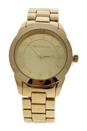 A0372-3 Gold Stainless Steel Bracelet Watch by Jean Bellecour for Women - 1 Pc Watch