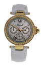 AL0519-05 Gold/White Leather Strap Watch by Antoneli for Women - 1 Pc Watch