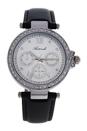 AL0519-07 Silver/Black Leather Strap Watch by Antoneli for Women - 1 Pc Watch