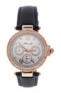 AL0519-08 Rose Gold /Black Leather Strap Watch by Antoneli for Women - 1 Pc Watch