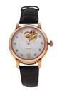 REDM1 Rose Gold/Brown Leather Strap Watch by Jean Bellecour for Women - 1 Pc Watch