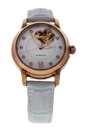 REDM2 Rose Gold/White Leather Strap Watch by Jean Bellecour for Women - 1 Pc Watch