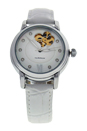 REDM3 Silver/White Leather Strap Watch by Jean Bellecour for Women - 1 Pc Watch