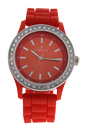 2032L-R Orange Silicone Strap Watch by Kim & Jade for Women - 1 Pc Watch